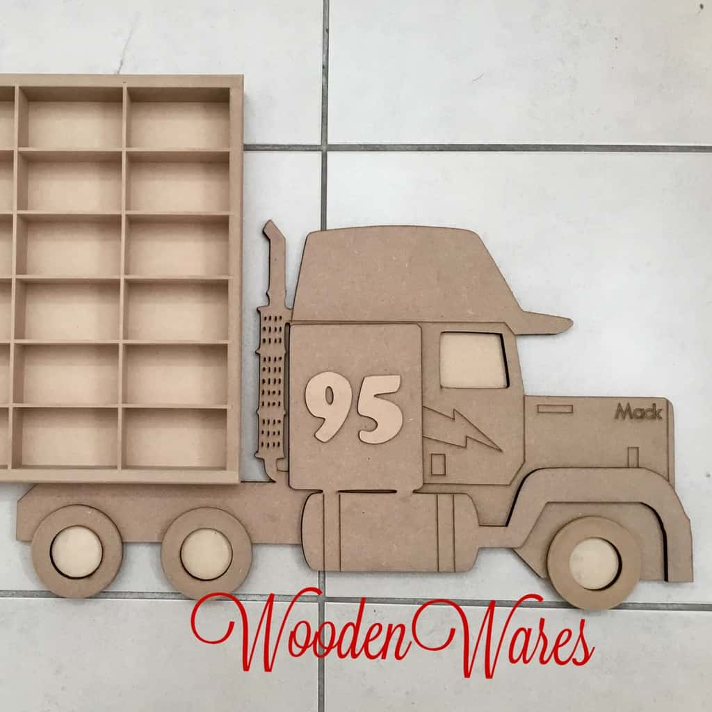Car Storage Disney Mack Version Wooden Wares