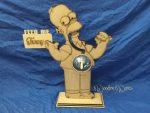 WoodenWares Homer Simpson Coin Bank