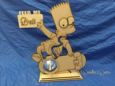 WoodenWares Bart Simpsons Coin Bank