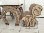 My Little Pony Table and Chairs by WoodenWares